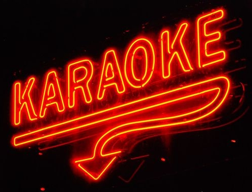 Karaoke bord neon